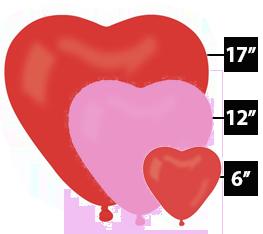 Μπαλόνια λάτεξ καρδιές