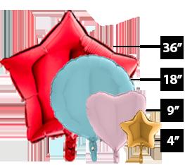 Μπαλόνια Foil σχηματισμένα