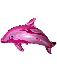 Balloons foil FLEXMETAL dolphin pink