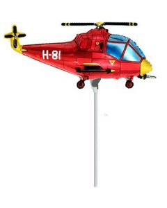 Balloons foil 9 inch FLEXMETAL hellicopter red