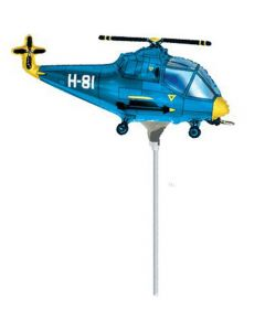Balloons foil 9 inch FLEXMETAL hellicopter blue