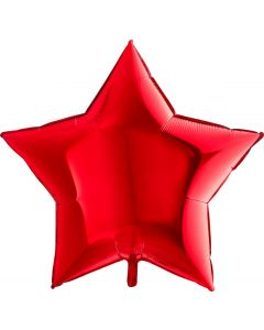 Balloon foil star shape 36 inch red