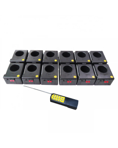 Fireworks system 12 pcs with base