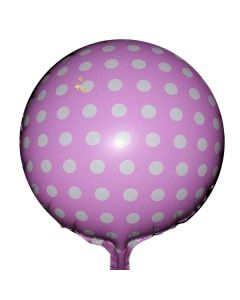 Balloon foil BF 18 inch polka dots pink