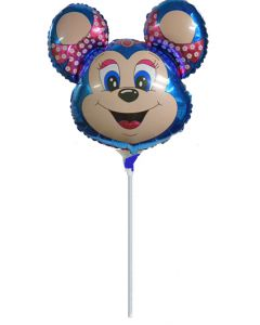 Balloons foil 9 inch FLEXMETAL mickey blue