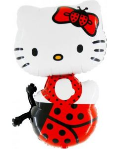 Balloons foil Grabo Hello Kitty red