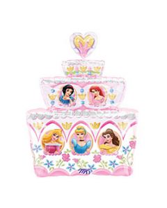 Anagram balloons Supershape Princesses cake