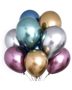 Balloons latex 14 inch Extra Metallic Chrome pick color