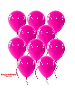 Balloon latex 9 inch pastel fucshia