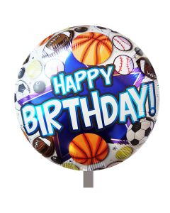 Μπαλόνι 18 ιντσών Happy birthday Soccer basketball ND