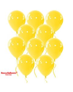 Balloon latex 9 inch pastel yellow 15 pcs