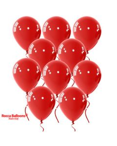 Balloon latex 9 inch pastel red 15 pcs