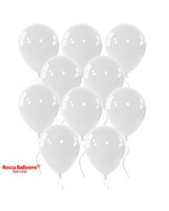 Balloon latex 9 inch pastel white 15 pcs