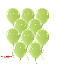 Balloons 13 inch metallic lime green 15 pcs